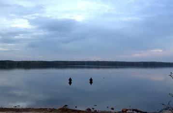 Zwei Angler im Senftenberger See